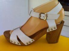 Jo Mercer Leather Sandals Heels for Women