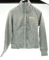 CONVERSE giacca felpa con bottoni grigio donna woman 3ID596A JKT S&C taglia M