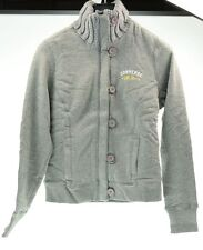 CONVERSE giacca felpa bottoni grigio donna woman 3ID596A JKT S&C taglia L