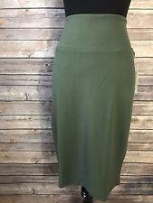 LuLaRoe Cassie Pencil Skirt - Size Medium Solid Army Green - NWT