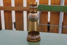Alte Blumenvase Emaille Malerei Glas Vase