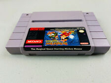 The Magical Quest Starring Mickey Mouse Super Nintendo SNES Genuine Authentic #3