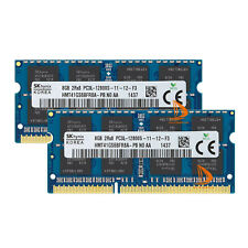 Hynix 16GB 2X 8GB 2RX8 DDR3L 1600MHz 1.35V Memoria RAM para computadora portátil PC3L-12800S Sodimm