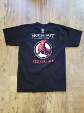 North Coast Brewing Co Red Seal Ale T-shirt Size Large Heavyweight short sleeve