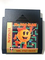 RARE Ms Pac Man ORIGINAL NINTENDO NES GAME TENGEN Cartridge Tested WORKING! VG!