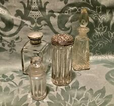 Four Antique Glass Scent Bottles.