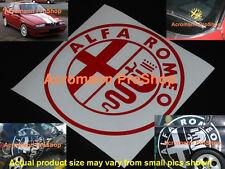 "2x 4"" 10.2cm Alfa Romeo round Decal Sticker GTA GTV 159 156 147 145 Giulietta 75"