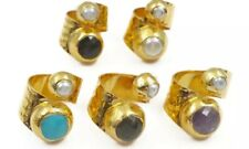 18k Gold Plated Gem Stone pearl Cocktail Ring Other Bloggers Stories Mango