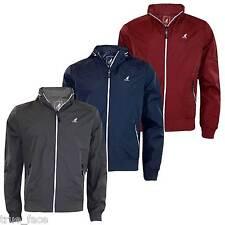 New Men Kangol Summer Concealed Hooded Light Water Repellent Zip Up Coat Jacket