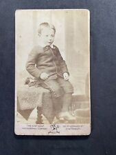 Victorian Carte De Visite CDV: Smart Child Heals: East Kent Photo Co: Canterbury