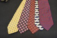 Lot of 5 ROBERT TALBOTT Neckties - incredibly cheap price! Grab it! B3