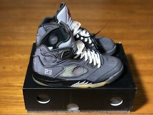 Nike AIR JORDAN 5 RETRO ' Off-White ' - Size 10 - CT8480-001