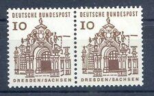 Bund Mi-Nr 454  waager.Pärchen (10) -Deutsche Bauwerke */**  1964