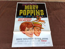 1973 Mary Poppins Original Movie House Full Sheet Poster