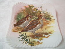 Vintage England Royal Adderley square Coaster ADD102 2 long bill Game Birds
