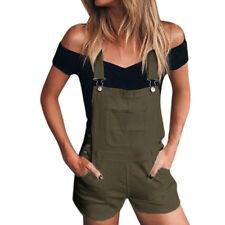 b5b2f86fd801 Women Girl Pants Loose Denim Bib Hole Pants Overalls Jeans Demin Shorts  Jumpsuit