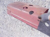 Farmall SC tractor Original Factory IH front hood cover panel over engine (clips