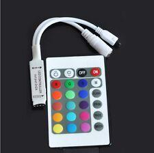 For RGB LED Strip Light DC5-24V 24 Key Wireless IR Remote Mini Controller Dimmer