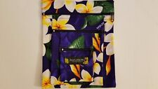 "HAWAIIAN FLORAL FABRIC 3 POCKETS PURSE BAG WITH SHOULDER STRAP / 7""(W)X8""(H)"