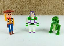 3 x Disney/Pixar Crossy Road Toy Story WOODY, BUZZ, REX Mini 4 cm MOOSE Figures