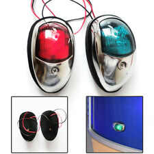 Red And Green Stainless Steel LED The Navigation Lights/Lamp Port/Free Shipping