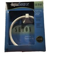 AquaSource Seton White Towel Ring NEW IN BOX
