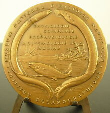 Medaille molysmologue marin océanographe Maurice Fontaine muséum Hist Nat  Medal