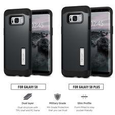 Spigen Slim Armor Samsung Galaxy S7 Edge Shockproof TPU Case Kickstand Cover Metal Slate
