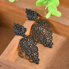 Fashion Charm Sexy Black Women Girl's Lace Gothic Earrings Long Flower Jewelry H