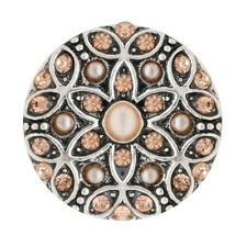 Button Click Klick Blume Kristall/Perle 20mm 7708 kompatibel mit Chunk Armband