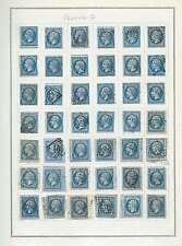 20 centimes bleu Napoléon III Lot de 42 timbres Lot Numéro 7