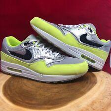 Nike Air Max 1 FB Premium QS Mens Size 13 Mercurial Pack Silver Volt 665874 007