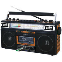 Supersonic SC-3201BT Retro Collection 4-Band Radio +Cassette to MP3 Converter