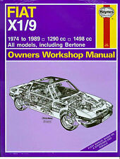 74-1989! FIAT X1/9 BERTONE SHOP MANUAL FI X19 SERVICE REPAIR BOOK WORKSHOP GUIDE
