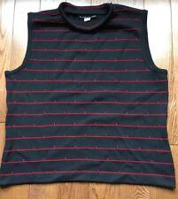 Vtg. St. John Knit Holt Renfrew Canada Navy Blue Wool Sleeveless Sweater Size M