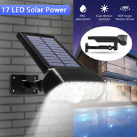 LED Solar Power Spot Light PIR Motion Sensor Outdoor Garden Adjustable Wall Lamp