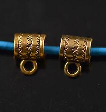 100 Bails Golden Connectors Holder Clasp Fit 5mm Leather Cord European Bracelet
