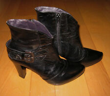 Steven by Steve Madden Womens Black Leather Fashion Ankle Boots 7.5 Cute Must C