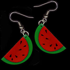 Funky WATERMELON EARRINGS Summer BBQ Picnic Food Fruit Novelty Costume Jewelry