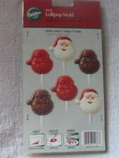 Wilton Party Santa Holiday Lollipop Mold 1 Designs/9 Cavaties New