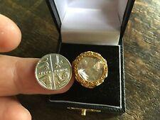 Huge vintage Polki Cut Rose Diamond 18ct Gold Ring. Spreads 6 Carats.Stunning !