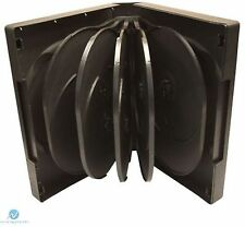 100 X12 Way Black DVD 38mm Spine Holds 12 Discs Empty Replacement Case