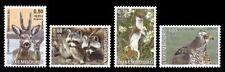 Luxemburg**ANIMALS-DEER-RACCOON-HERMELINE-4v-2003-Dieren-Animaux-MNH