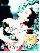 PUBLICITE ADVERTISING 066  1996  Yves Saint Laurent parfum femme Paris Je T'aime