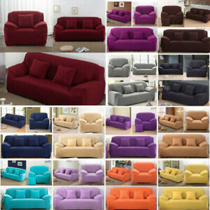 1/2/3/4 Seater Stretch Chair Sofa Cover Seater Elastic Couch Protector Slipcover