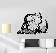 Vinyl Wall Decal Octopus Sea Monster Ocean Ship Stickers (995ig)