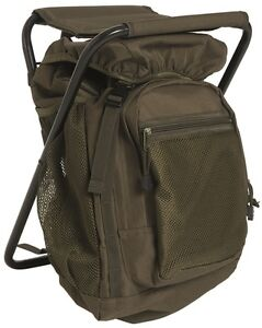 Mil-Tec Ansitzrucksack mit Hocker Rucksack Sitzrucksack Backpack 20 Liter Oliv