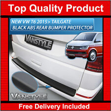 NEW VW T6 15> TRANSPORTER TAILGATE REAR BUMPER PROTECTOR ABS BLACK PROTECTION
