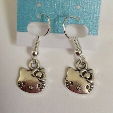 Hello Kitty Silver Earrings new
