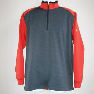 NIKE GOLF Tour Performance Dri Fit 1/4 Zip Pullover Shirt Jacket sz L